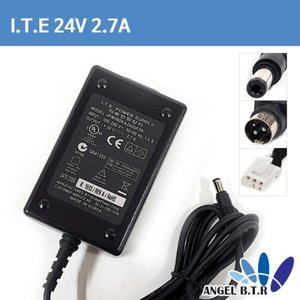 I.T.E. POWER SUPPLY 24V 2.7A /24V2.7A/24V2.5A/24V 2.5A/ 3pin/빅솔론 라벨프린트 아답타